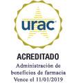 Sello de URAC: administración de beneficio de farmacia acreditada por URAC - Vence el 11/1/2019