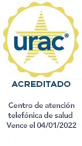 Sello de URAC: centro de atención telefónica de salud acreditado por URAC - Vence el 11/01/2019