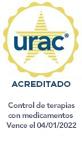 Sello de URAC: administración de terapias con medicamentos acreditada por URAC - Vence el 11/1/2019